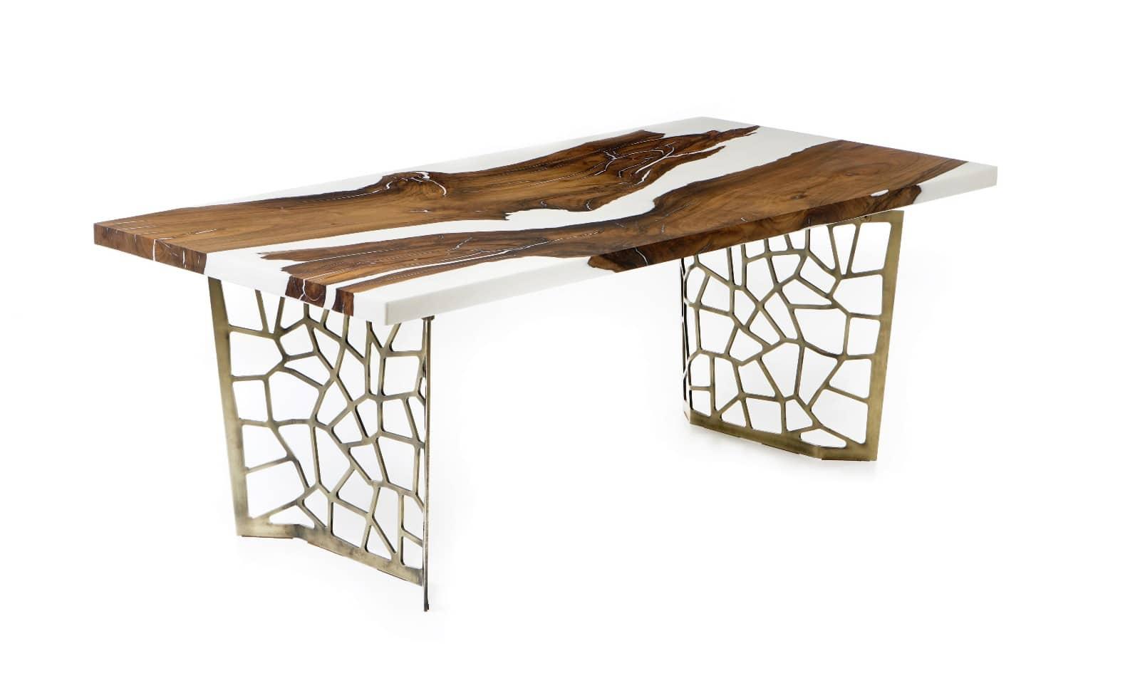 Tisch Voronoi Weiß